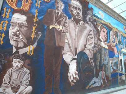 Mural dedicado a Juan Rulfo