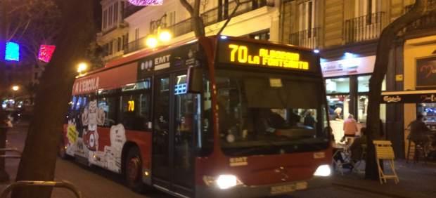 València compta amb 3.500 places amb tarifes límit i 4 línies nocturnes d'EMT doblades