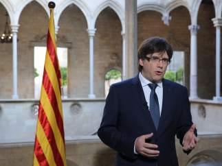La ley de secesión catalana prevé declarar la independencia inmediata si no hay referéndum