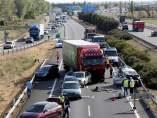 Accidente múltiple en Valladolid.