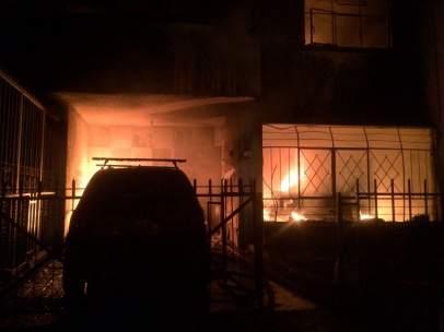 Incendio de una casa en México