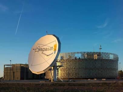 Antena de Hispasat.