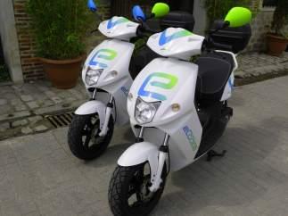 Motocicletas eléctricas en el centro de Madrid