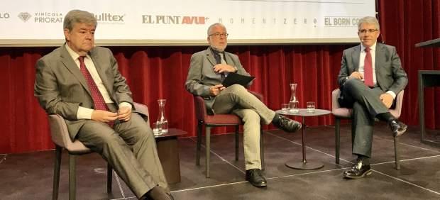 Guillem López Casasnovas, Xevi Xirgu y Francesc Homs.