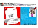 Tuit contra la propuesta de primarias de Susana Díaz