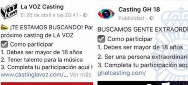 Estafa con castings
