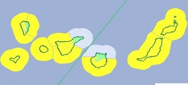 Riesgo amarillo en Canarias