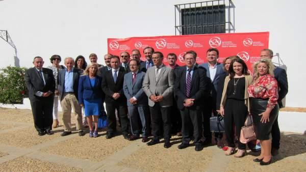 Visita de la Comisión de Asuntos Iberoamericanos del Senado a La Rábida.