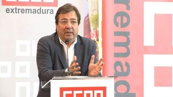 Vara en el Congreso de CCOO Extremadura