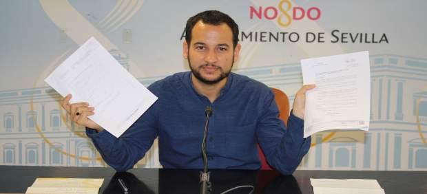 El portavoz de IU en el Ayuntamiento de Sevilla, Daniel González Rojas