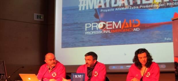 Miembros de Salvamento Marítimo Humanitario