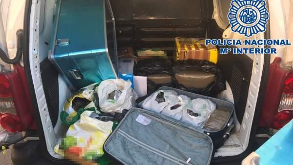 Material incautado por la Policía Nacional en la Operación 'Kevin'
