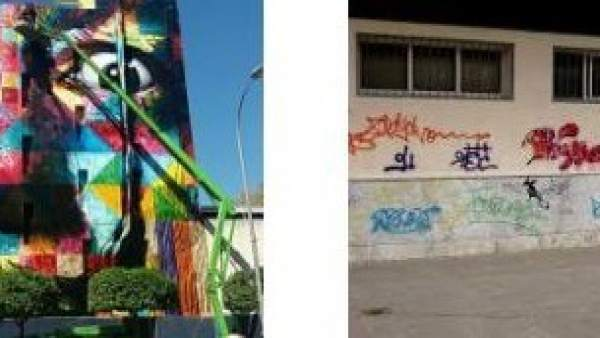Grafiti artístico y vandálico