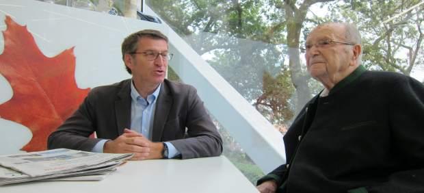 Gerardo Fernández Albor en Santiago con Feijóo