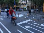 Carril Bici en Barcelona.
