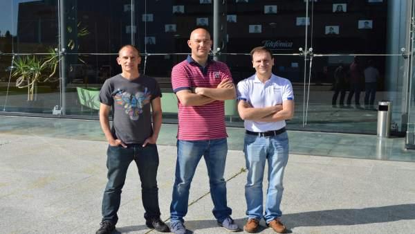 Tres ingenieros de Boecillo que han solicitado patente.