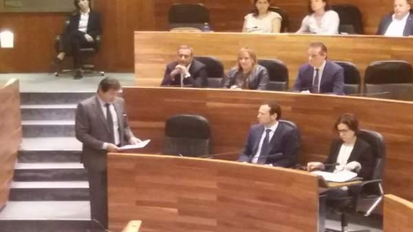 Javier Fernández en el Pleno.