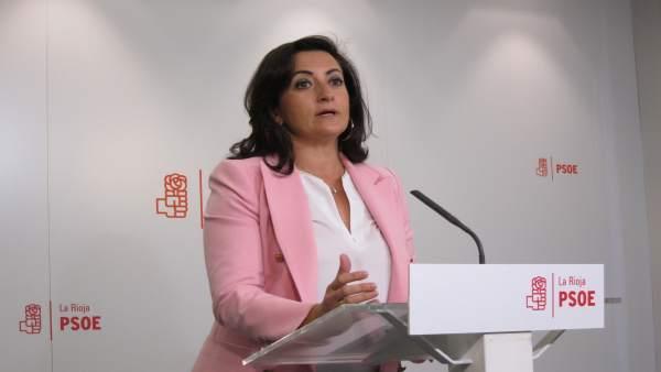 La portavoz del PSOE en el Parlamento, Concha Andreu