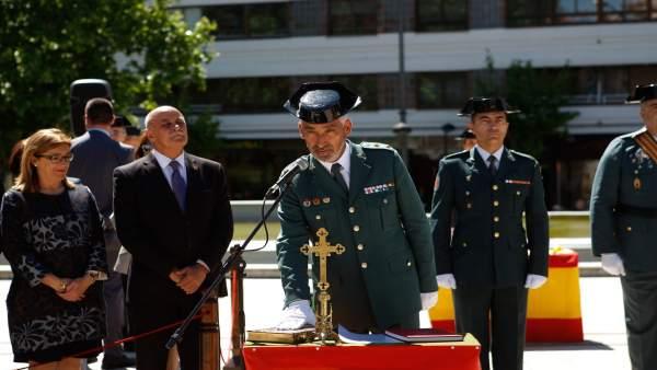 Toma de posesión del teniente coronel Manuel Rodríguez Zabala en Zamora