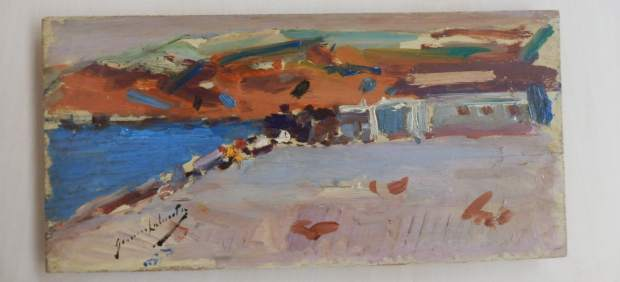 Una de las obras pertenece a Genaro Lahuerta