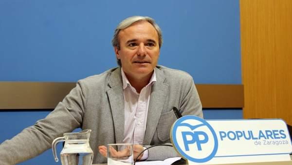 El portavoz del PP, Jorge Azcón