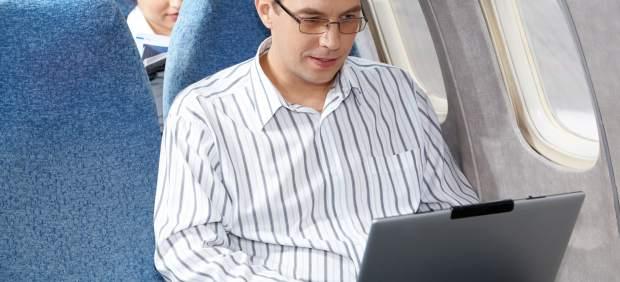 PC en un avión