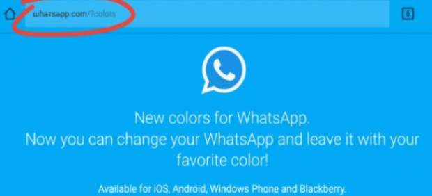 El mensaje del nuevo WhatsApp azul es una estafa