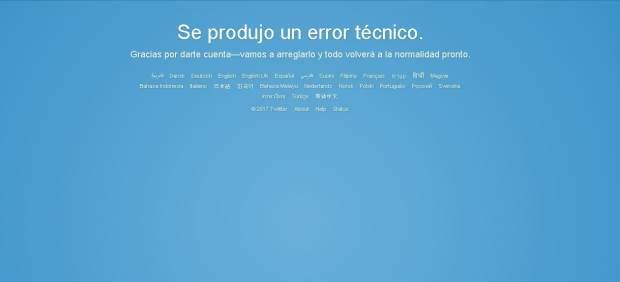 Twitter, caído