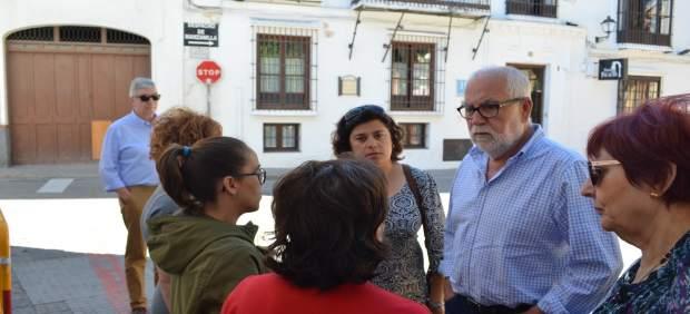 Antonio Alba en el municipio de Sanlúcar