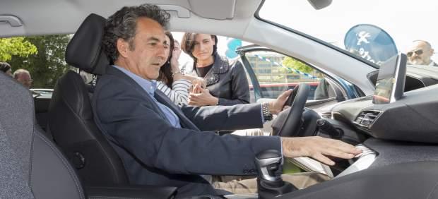 Martín en la inauguración de la Expo del Automóvil