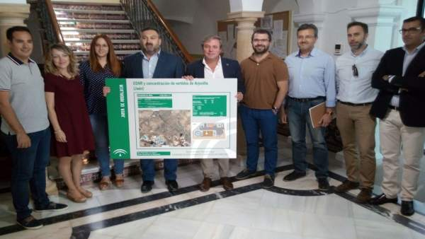 Presentación del proyecto de la depuradora de aguas de Arjonilla.