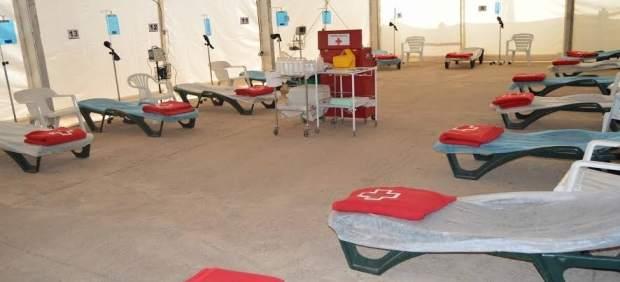 Instalación de Cruz Roja en el Arena