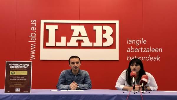 Rueda de prensa de LAB