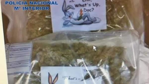Paquetes de marihuana que enviaban al Reino Unido