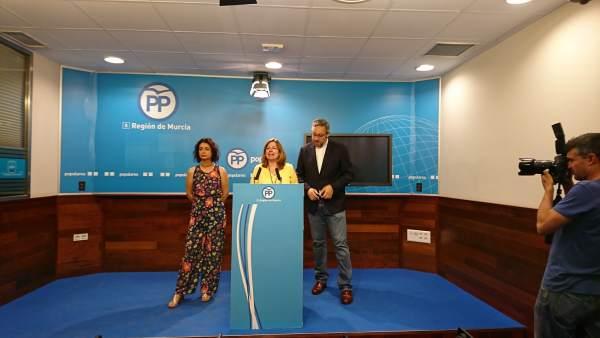 La vicesecretaria de Política Municipal del PPRM, Visitación Martínez