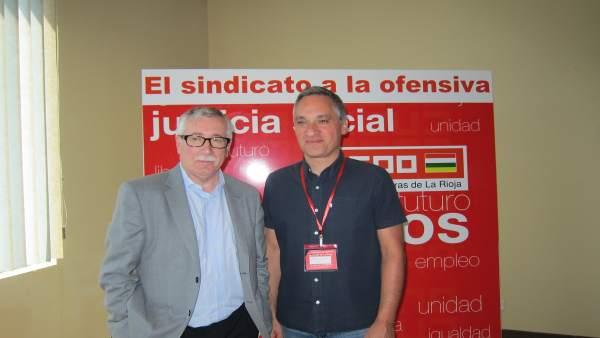 Fernández Toxo Con Jorge Ruano En Logroño