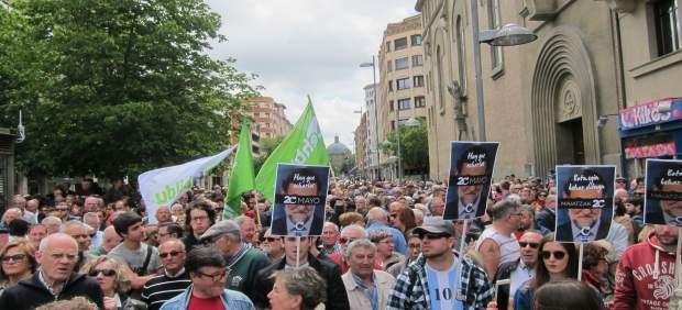 Concentración contra la corrupción en Pamplona