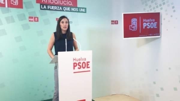 La vicesecretaria general del PSOE de Huelva, María Márquez