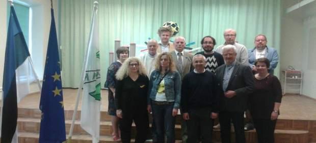 Los profesores participantes en el encuentro