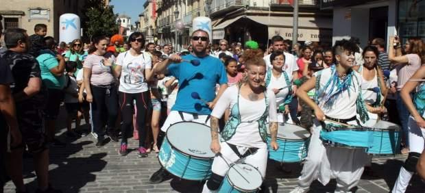 Participantes en la Carrera contra el acoso escolar.