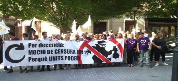 Concentración de apoyo a moción de censura en Palma