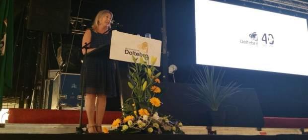 La consellera Neus Munté en Deltebre (Tarragona)