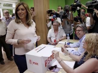 Susana Díaz vota