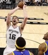 Pau Gasol, Spurs - Warriors