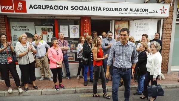 Pedro Sánchez, en Pozuelo de Alarcón