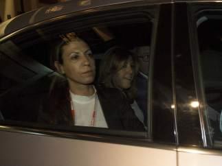 Díaz abandona en coche Ferraz