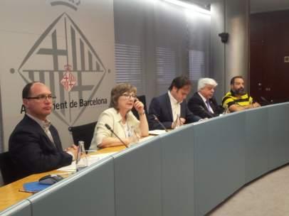 Ramon Sanahuja, Lola López, Jaume Asens, Oriol Rusca y Rodrigo Araneda