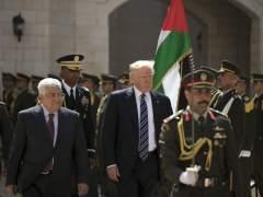 Trump llega a Belén para reunirse con el presidente Abás