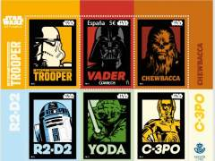 Así son los sellos de 'Star Wars' lanzados por Correos y Disney