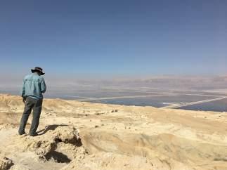 El mar Muerto, desde el alto de Sodoma y Gomorra